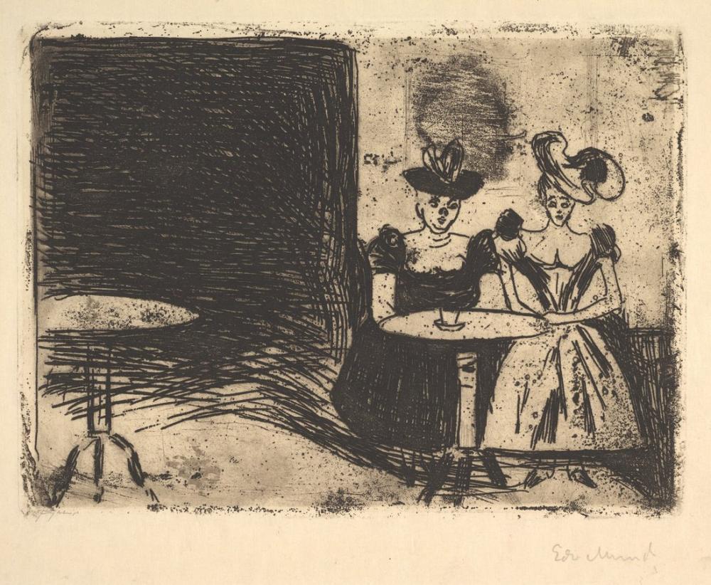 Edvard Munch Night Cafe, Canvas, Edvard Munch, kanvas tablo, canvas print sales