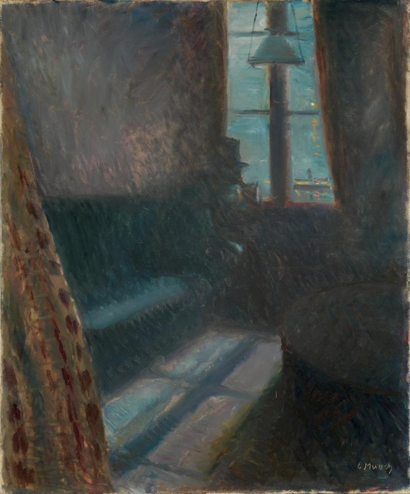 Edvard Munch Saint Cloud Gecesi, Kanvas Tablo, Edvard Munch, kanvas tablo, canvas print sales