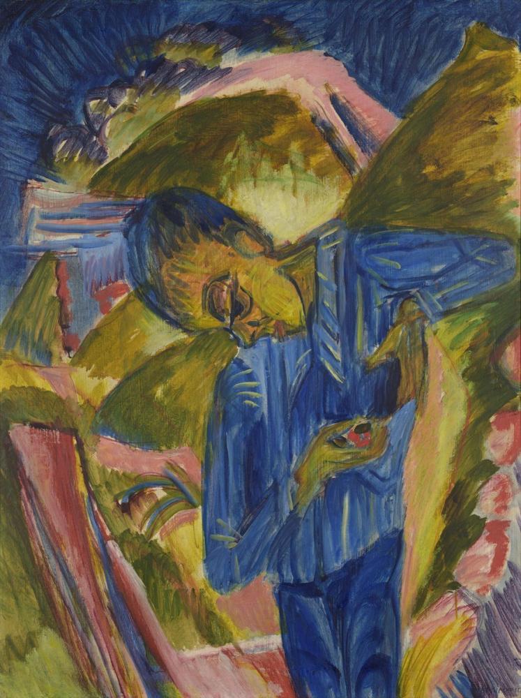 Ernst Ludwig Kirchner, Şekerler ile Çocuk, Figür, Ernst Ludwig Kirchner, kanvas tablo, canvas print sales