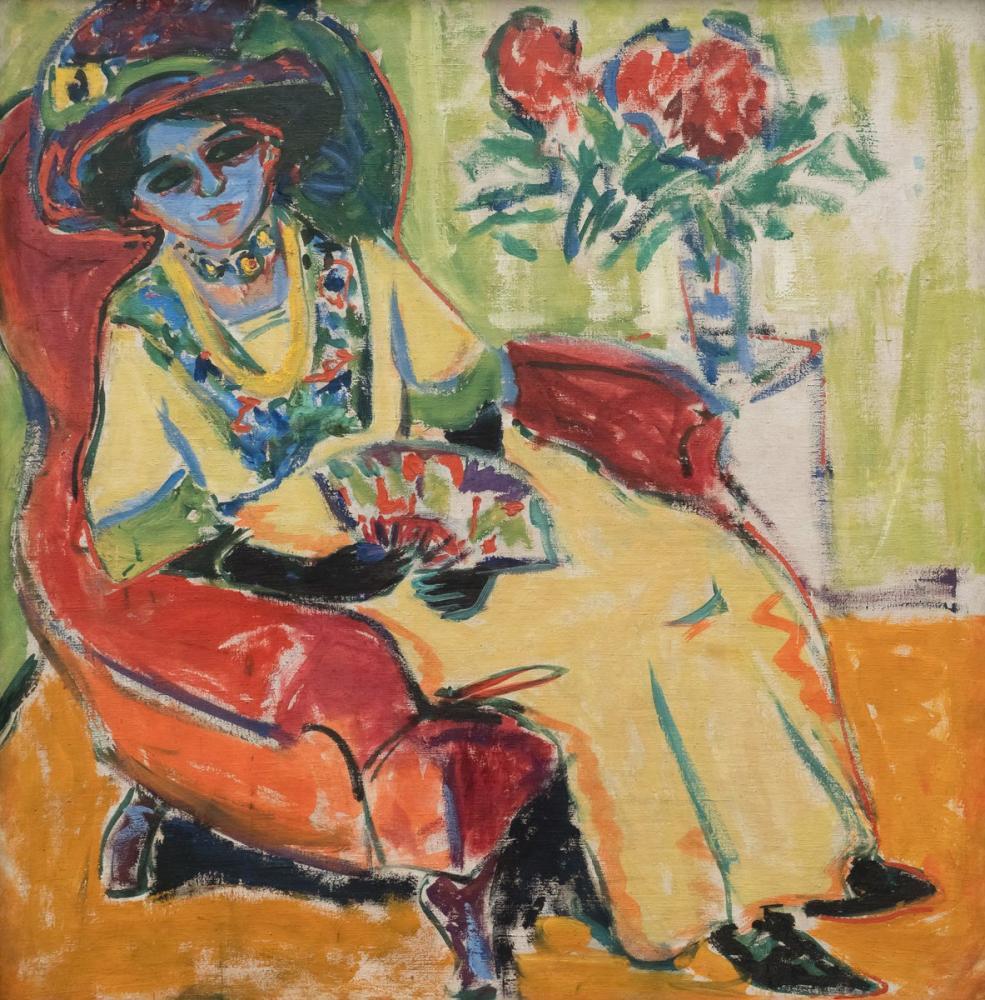 Ernst Ludwig Kirchner, Dodo Portresi, Figür, Ernst Ludwig Kirchner, kanvas tablo, canvas print sales