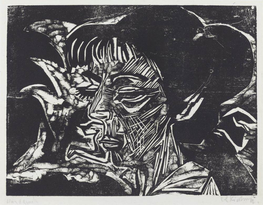 Ernst Ludwig Kirchner, Fanny Wocke, Figür, Ernst Ludwig Kirchner, kanvas tablo, canvas print sales