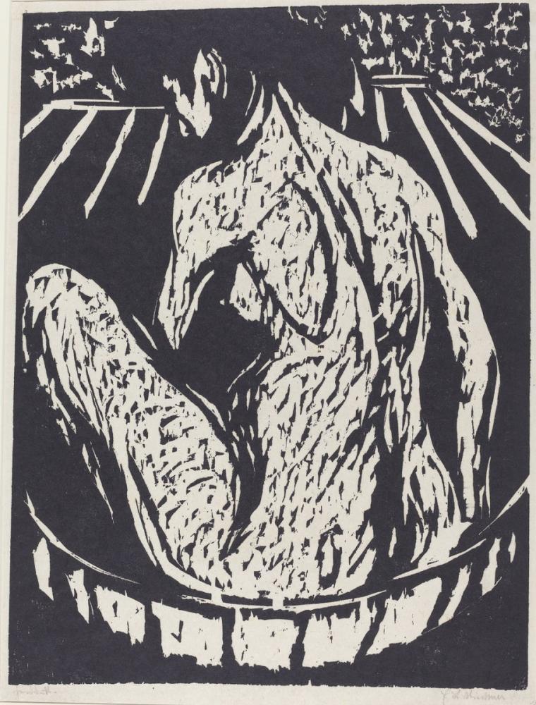 Ernst Ludwig Kirchner, Female Nude, Figure, Ernst Ludwig Kirchner, kanvas tablo, canvas print sales