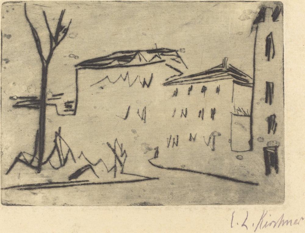 Ernst Ludwig Kirchner, Street Corner in Dresden, Canvas, Ernst Ludwig Kirchner, kanvas tablo, canvas print sales