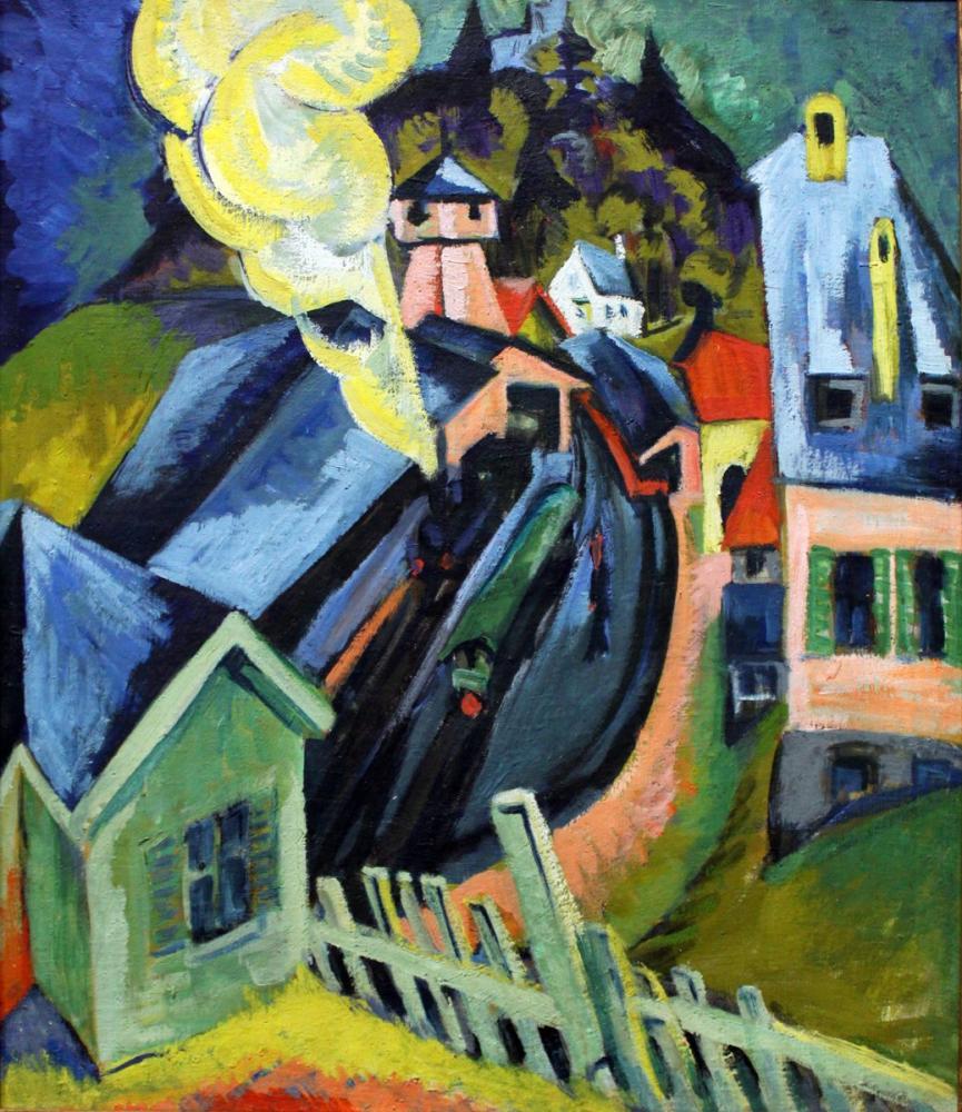 Ernst Ludwig Kirchner, Königstein İstasyonu, Kanvas Tablo, Ernst Ludwig Kirchner, kanvas tablo, canvas print sales