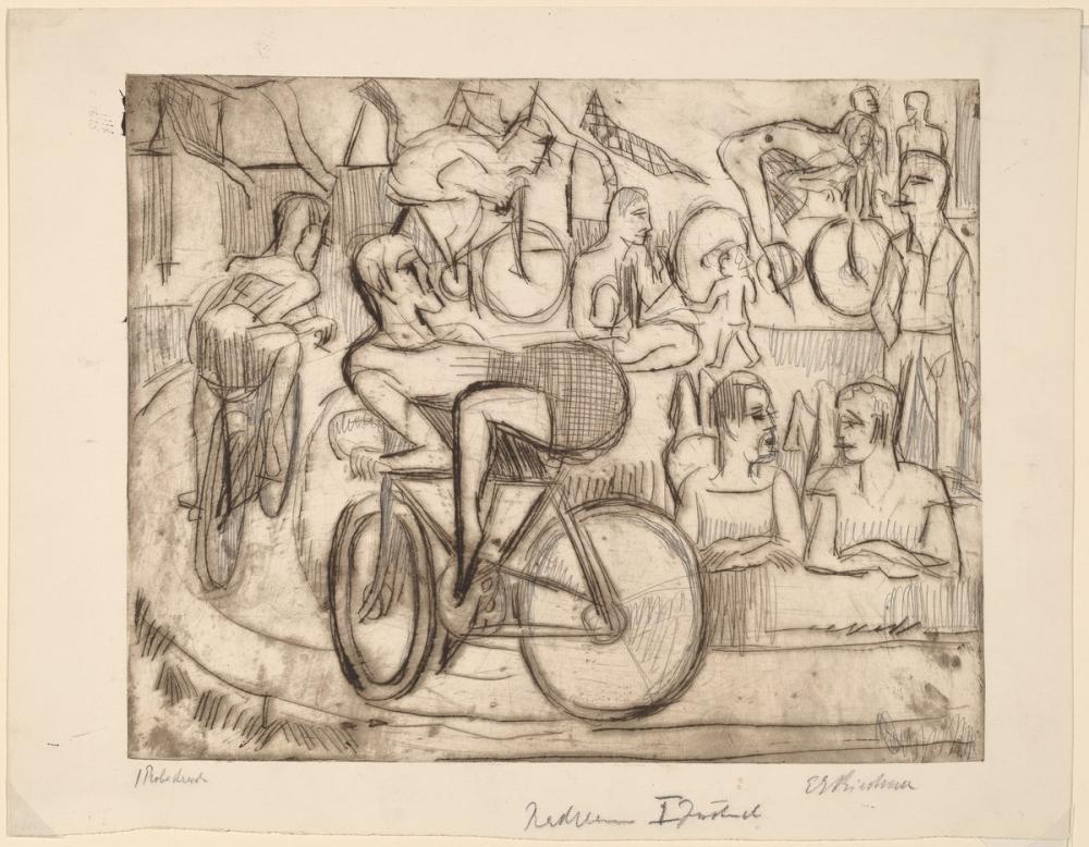 Ernst Ludwig Kirchner, Bisiklet Yarışı, Figür, Ernst Ludwig Kirchner, kanvas tablo, canvas print sales