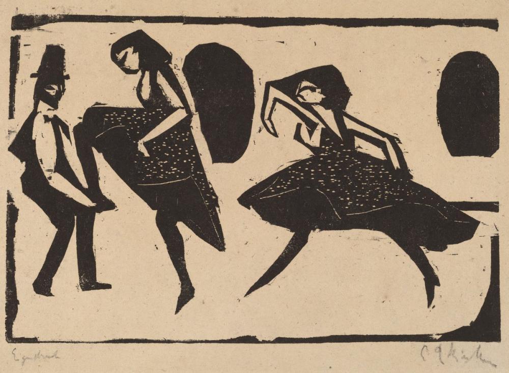 Ernst Ludwig Kirchner, Akrobatik Dans, Figür, Ernst Ludwig Kirchner, kanvas tablo, canvas print sales