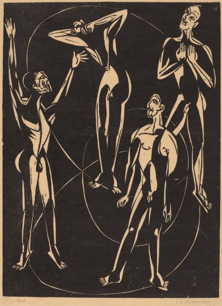 Ernst Ludwig Kirchner, Feelings, Figure, Ernst Ludwig Kirchner, kanvas tablo, canvas print sales