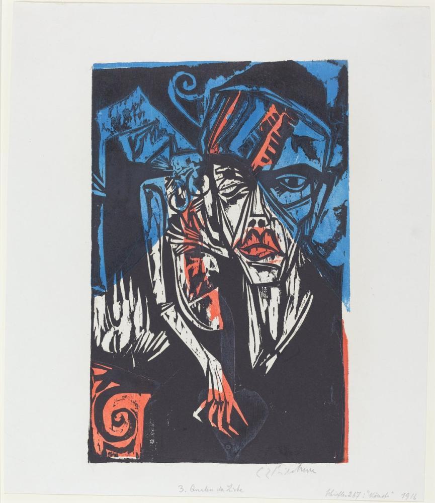 Ernst Ludwig Kirchner, Peter Schlemihl in Harika Hikâye Savaşları - Sevginin Acıları, Figür, Ernst Ludwig Kirchner, kanvas tablo, canvas print sales