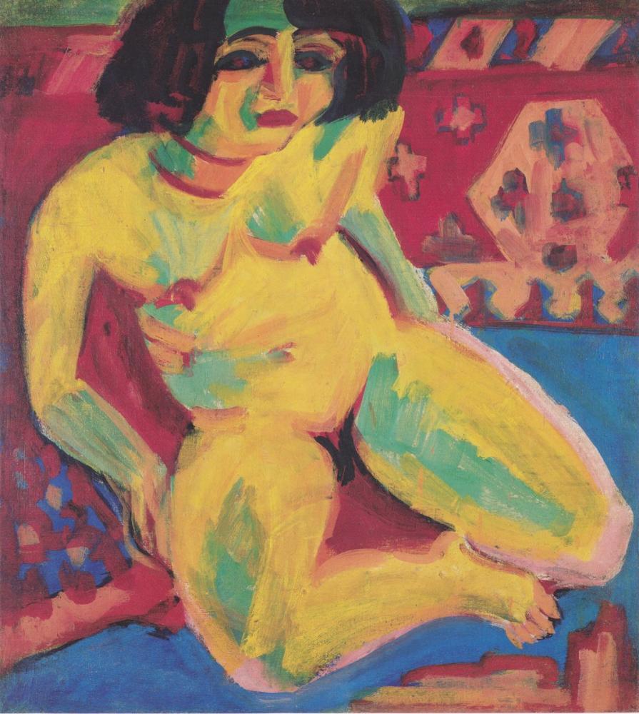 Ernst Ludwig Kirchner, Çıplak Kadın, Dodo, Figür, Ernst Ludwig Kirchner, kanvas tablo, canvas print sales