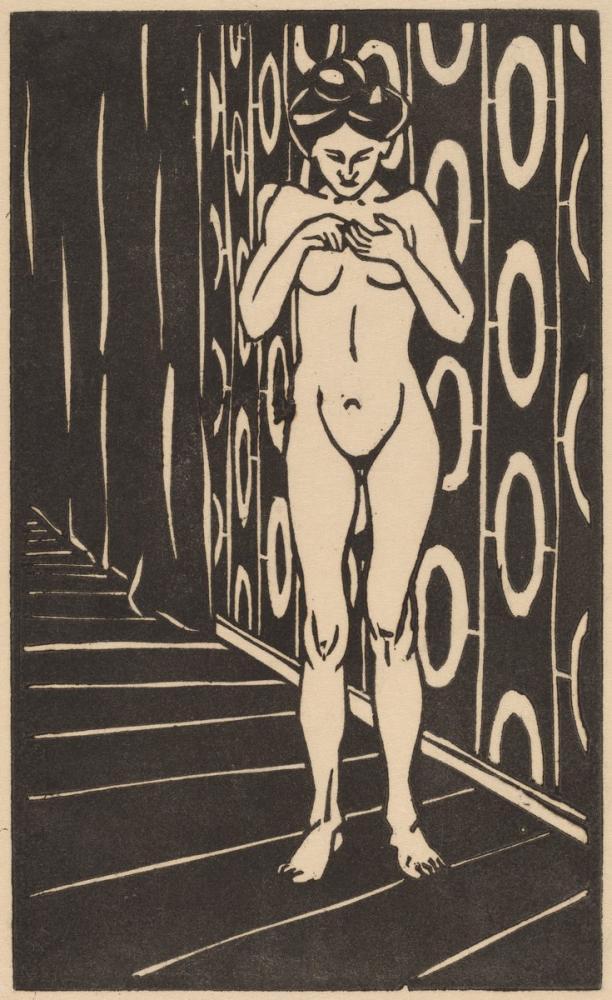 Ernst Ludwig Kirchner, The Finger Game, Figure, Ernst Ludwig Kirchner, kanvas tablo, canvas print sales