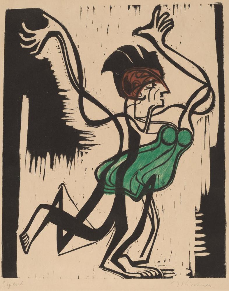 Ernst Ludwig Kirchner, Palucca, Figure, Ernst Ludwig Kirchner, kanvas tablo, canvas print sales