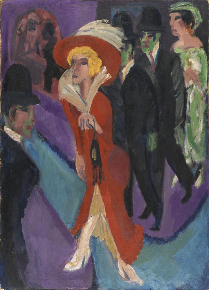 Ernst Ludwig Kirchner, Buscona Kızıl Sokak, Figür, Ernst Ludwig Kirchner, kanvas tablo, canvas print sales
