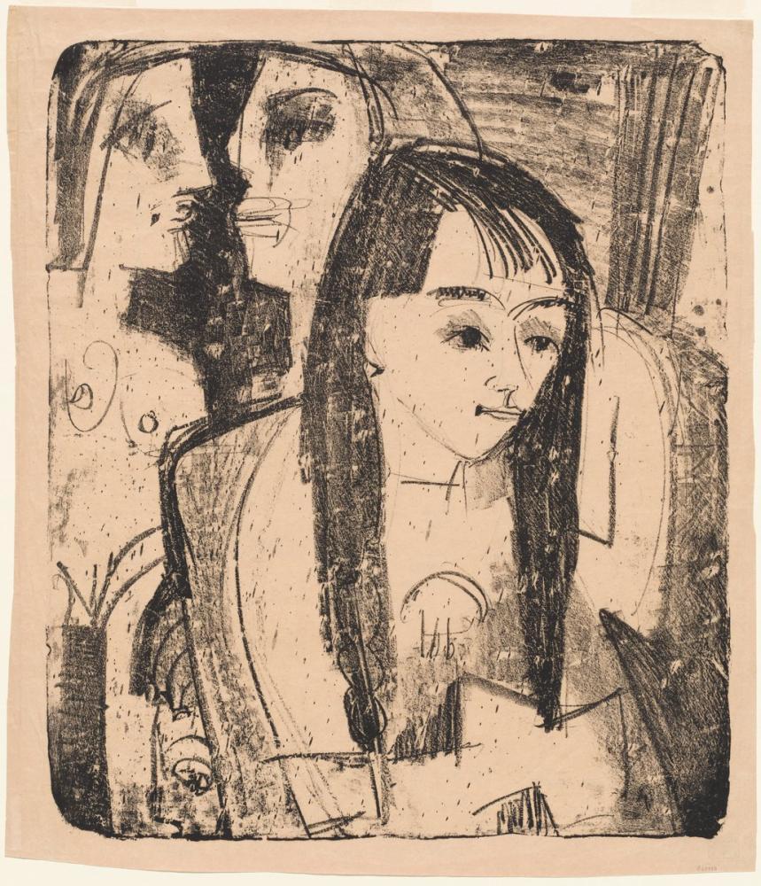 Ernst Ludwig Kirchner, Bir Kızın Portresi, Figür, Ernst Ludwig Kirchner, kanvas tablo, canvas print sales