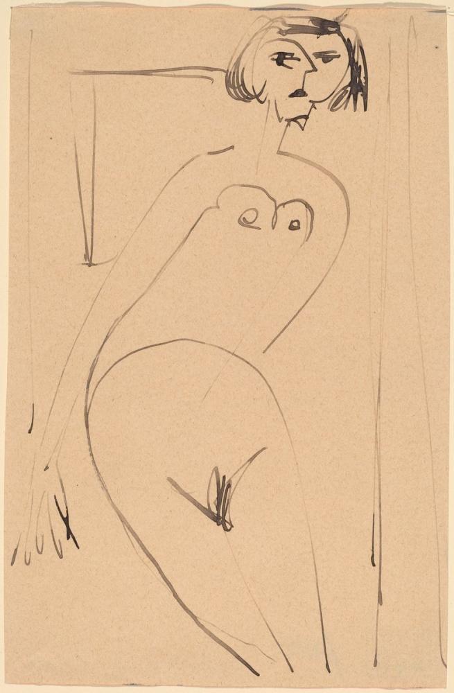 Ernst Ludwig Kirchner, Çıplak, Figür, Ernst Ludwig Kirchner, kanvas tablo, canvas print sales