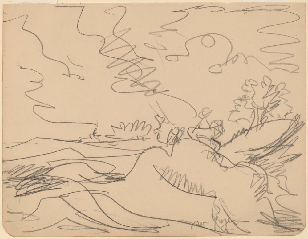 Ernst Ludwig Kirchner, Taunus ta Manzara, Kanvas Tablo, Ernst Ludwig Kirchner, kanvas tablo, canvas print sales
