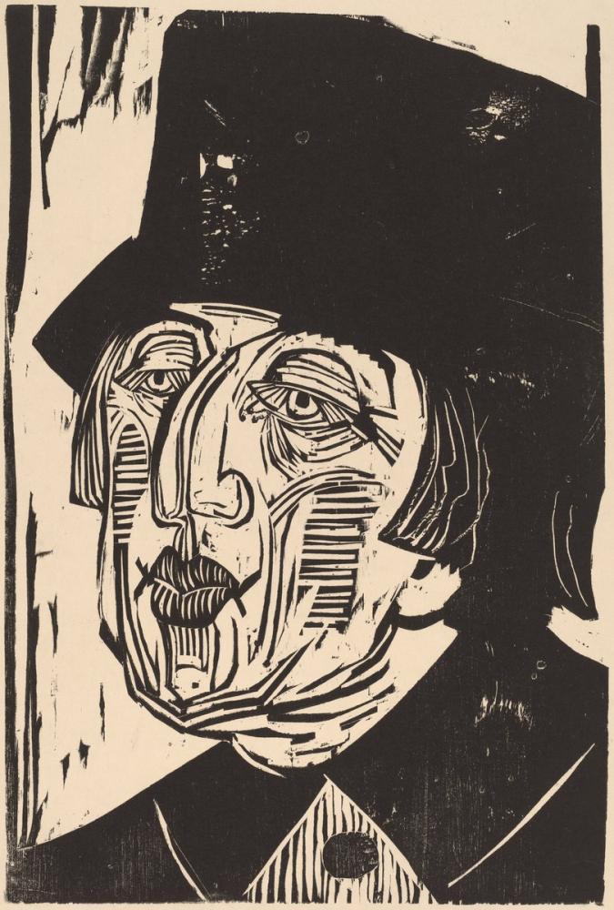 Ernst Ludwig Kirchner, Annette Kolb, Figür, Ernst Ludwig Kirchner, kanvas tablo, canvas print sales