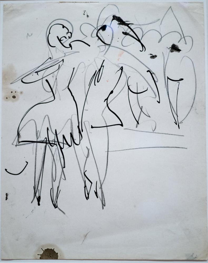 Ernst Ludwig Kirchner, Çeşitli Gösteriler Çift Dans, Figür, Ernst Ludwig Kirchner, kanvas tablo, canvas print sales