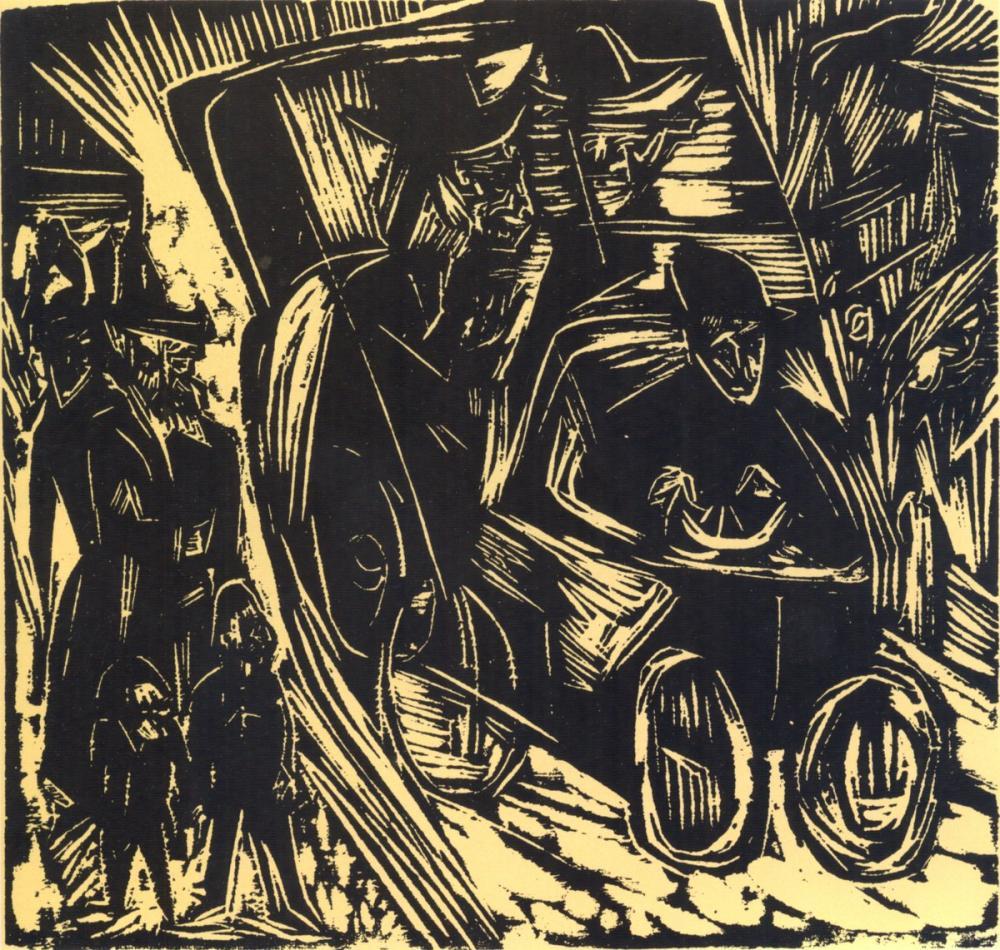 Ernst Ludwig Kirchner, Absalom Spricht Recht an Seines Vaters Statt, Figure, Ernst Ludwig Kirchner, kanvas tablo, canvas print sales