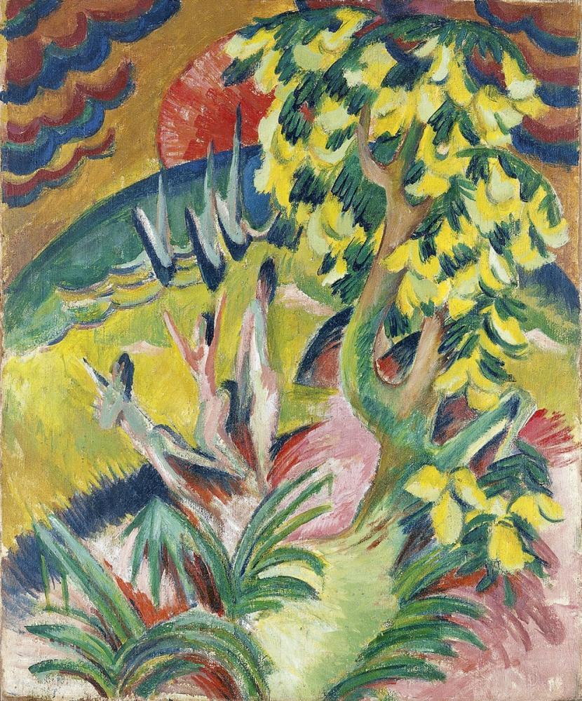 Ernst Ludwig Kirchner, Cala, Figure, Ernst Ludwig Kirchner, kanvas tablo, canvas print sales
