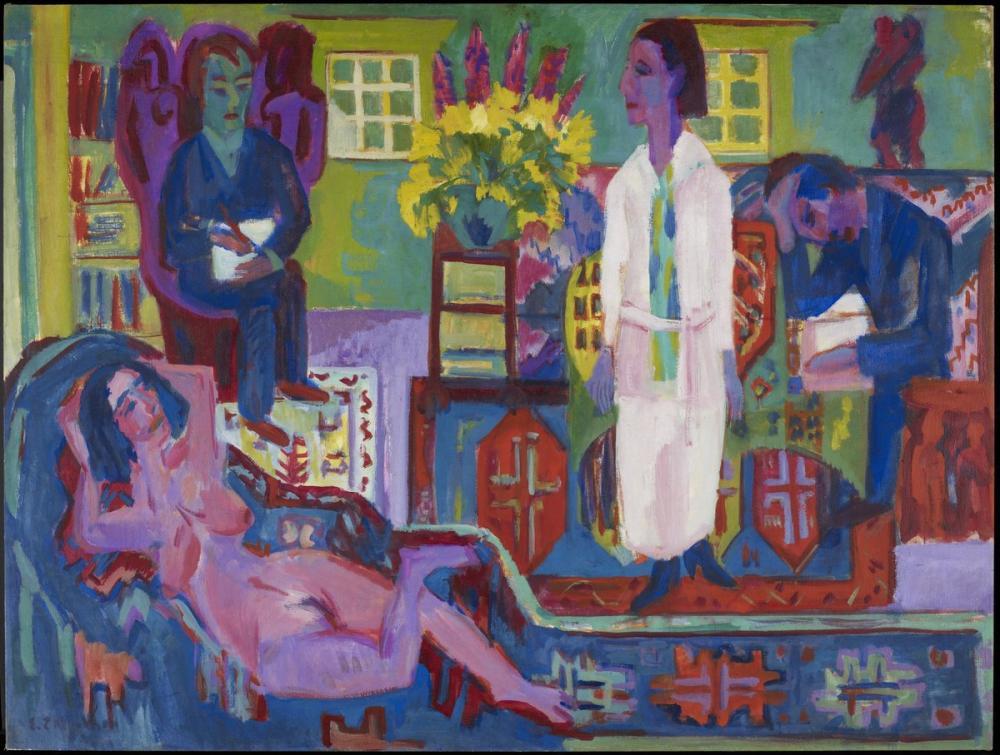 Ernst Ludwig Kirchner, Modern Bohemia, Figür, Ernst Ludwig Kirchner, kanvas tablo, canvas print sales