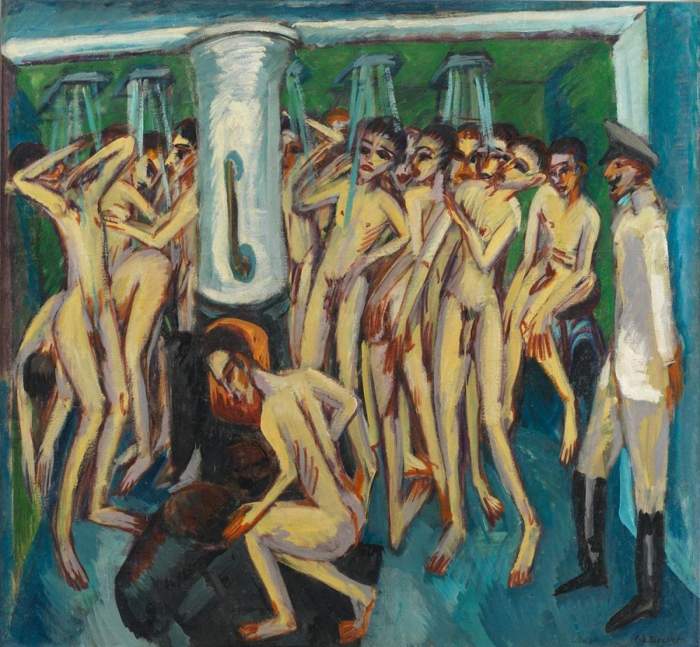 Ernst Ludwig Kirchner, Askerin Banyosu, Figür, Ernst Ludwig Kirchner, kanvas tablo, canvas print sales