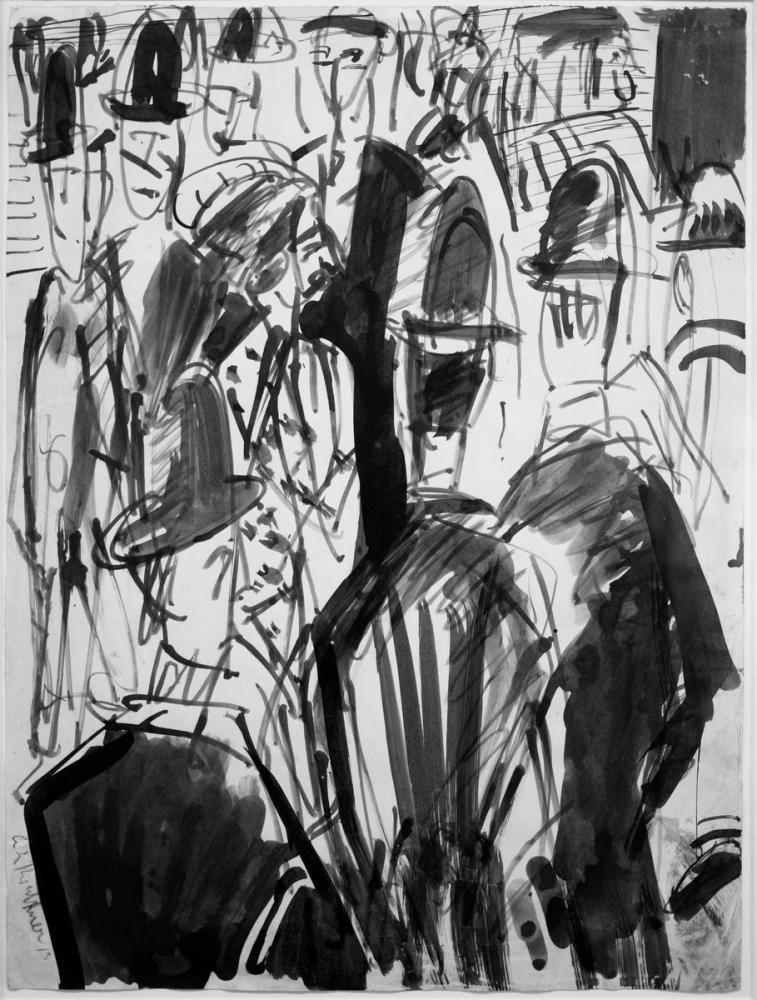 Ernst Ludwig Kirchner, Street Scene, Figure, Ernst Ludwig Kirchner, kanvas tablo, canvas print sales