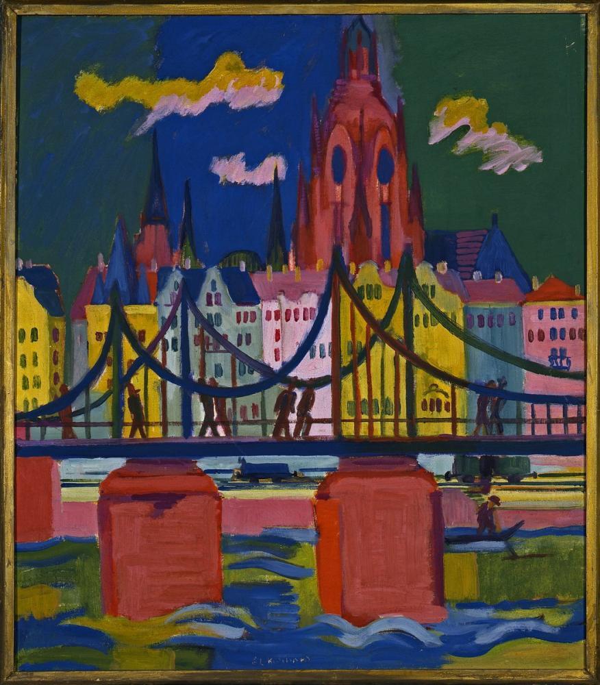 Ernst Ludwig Kirchner, Frankfurt Katedrali, Figür, Ernst Ludwig Kirchner, kanvas tablo, canvas print sales