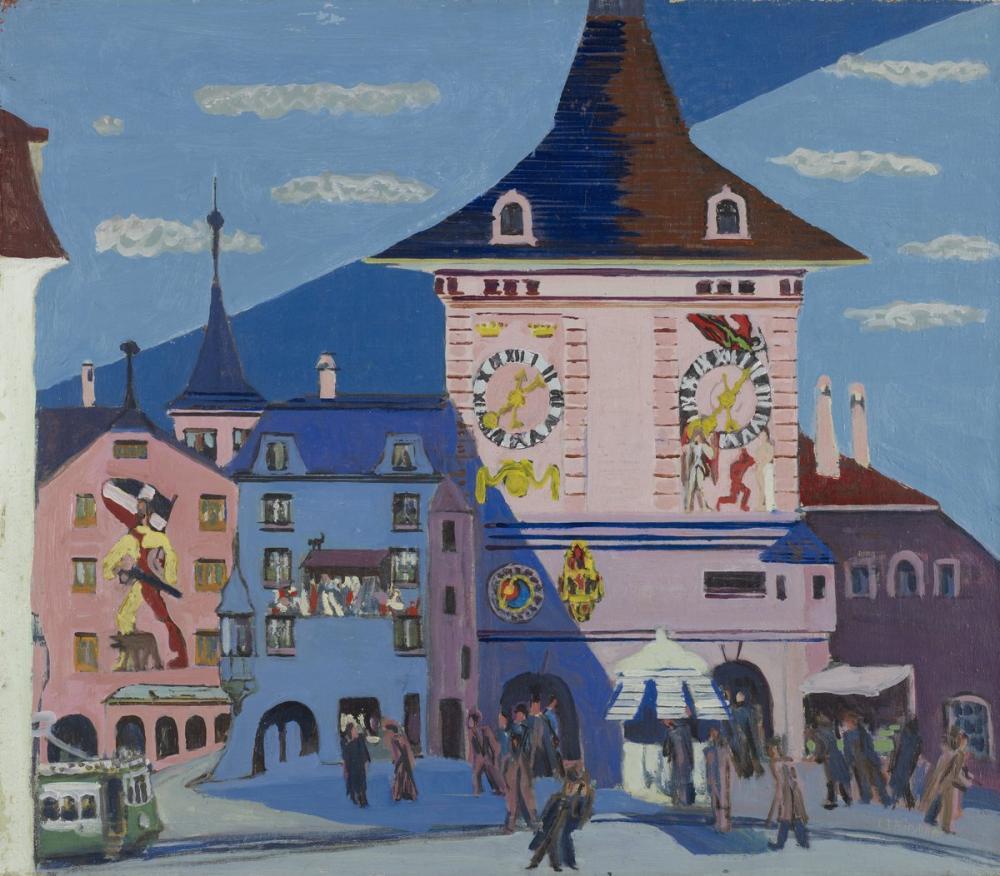 Ernst Ludwig Kirchner, Bern ile Belltower, Kanvas Tablo, Ernst Ludwig Kirchner, kanvas tablo, canvas print sales