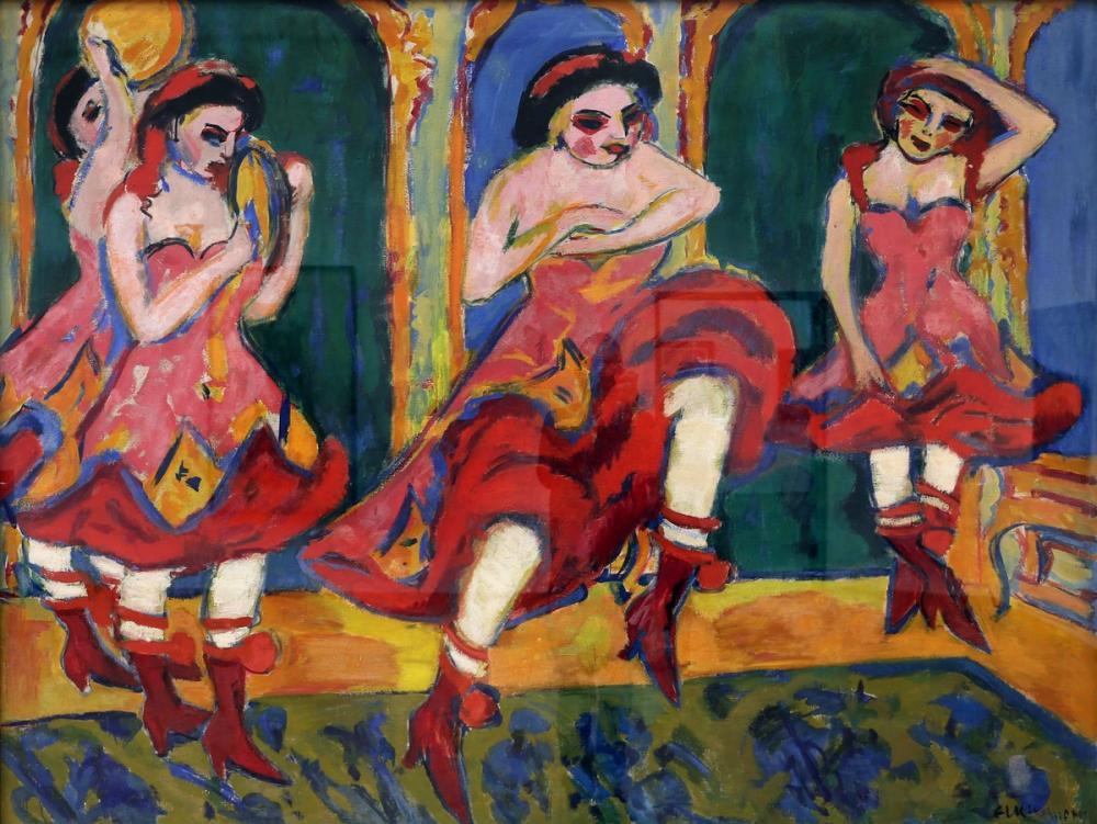 Ernst Ludwig Kirchner, Ballerini Czardas, Figure, Ernst Ludwig Kirchner, kanvas tablo, canvas print sales