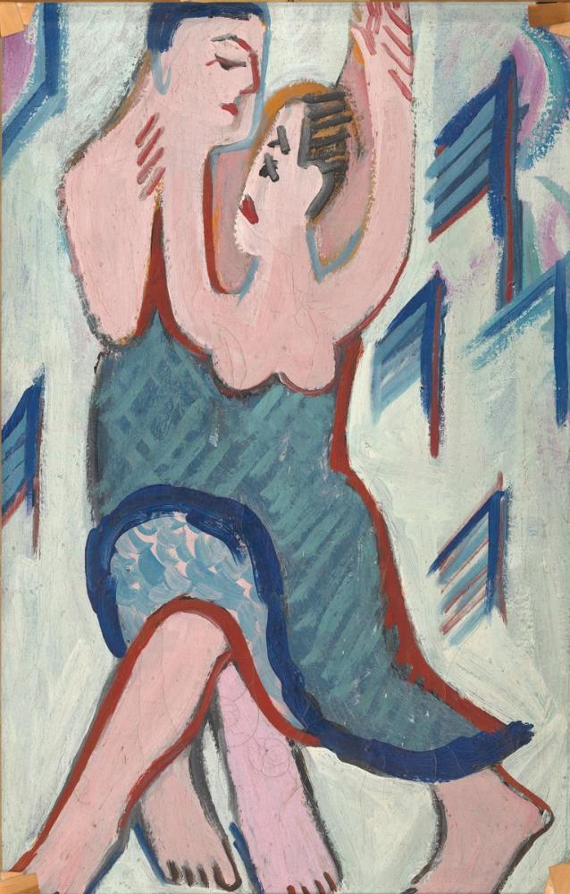 Ernst Ludwig Kirchner, Karda Dans Çift, Figür, Ernst Ludwig Kirchner, kanvas tablo, canvas print sales