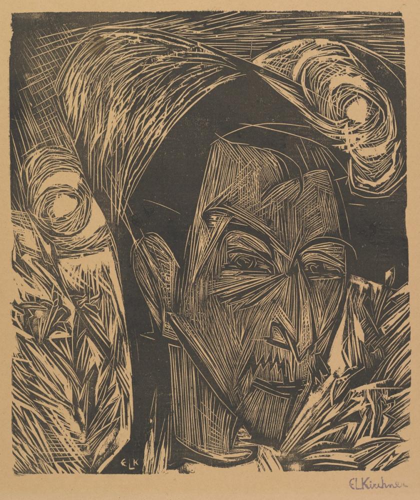 Ernst Ludwig Kirchner, David Müller Portresi, Figür, Ernst Ludwig Kirchner, kanvas tablo, canvas print sales