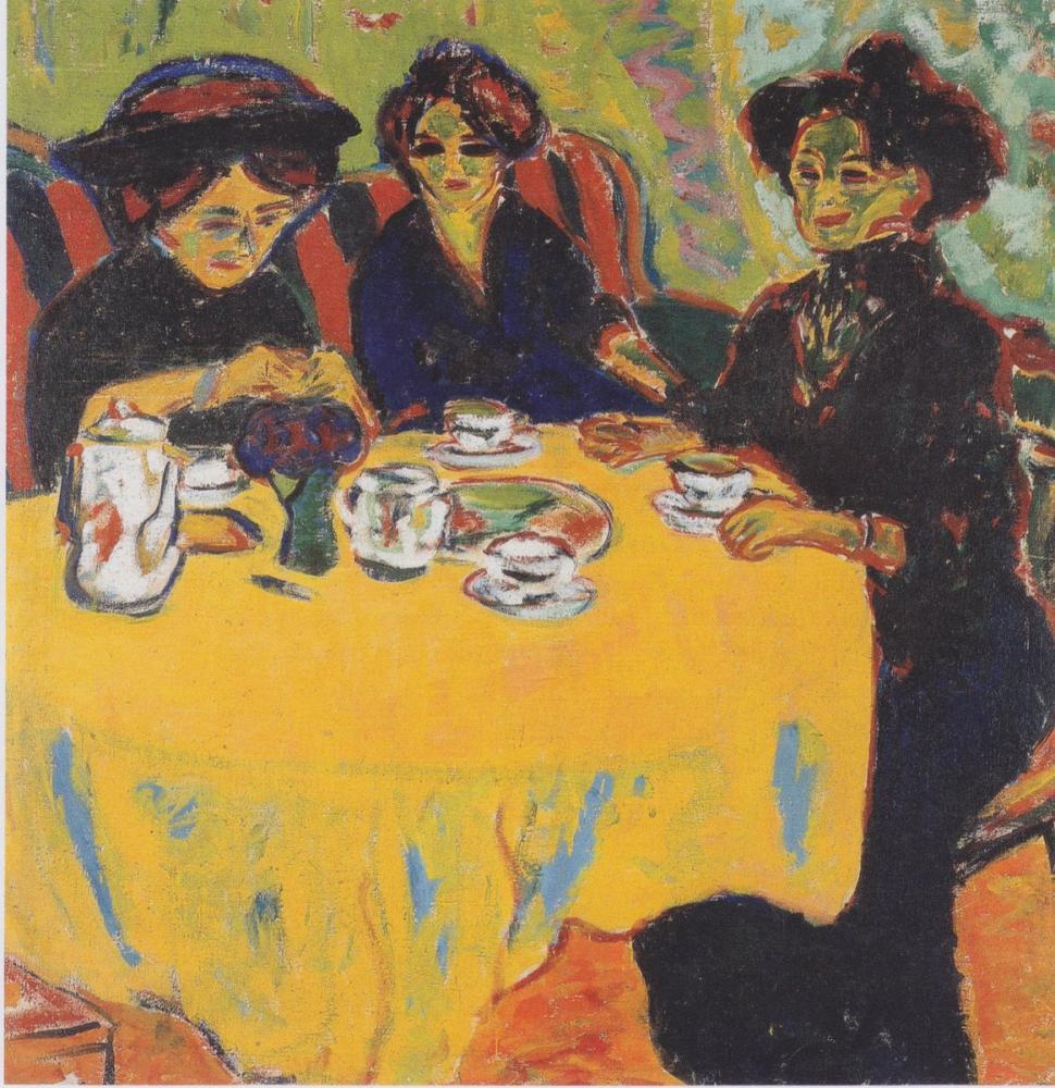 Ernst Ludwig Kirchner, Kaffetafel, Figure, Ernst Ludwig Kirchner, kanvas tablo, canvas print sales