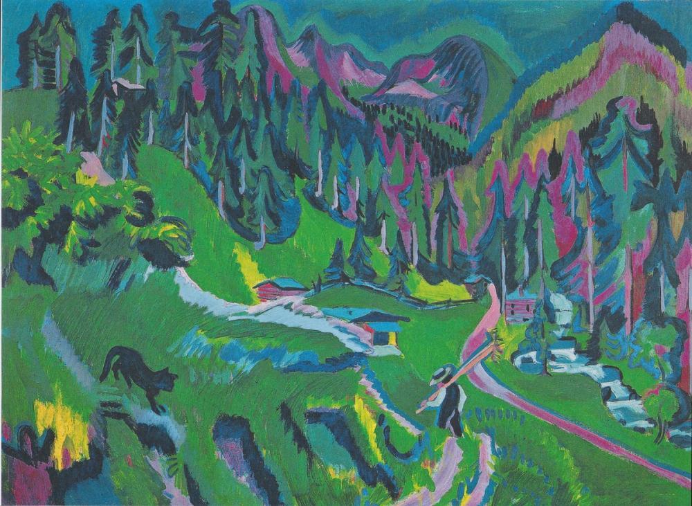 Ernst Ludwig Kirchner, Sert Vadisi Manzarası, Kanvas Tablo, Ernst Ludwig Kirchner, kanvas tablo, canvas print sales