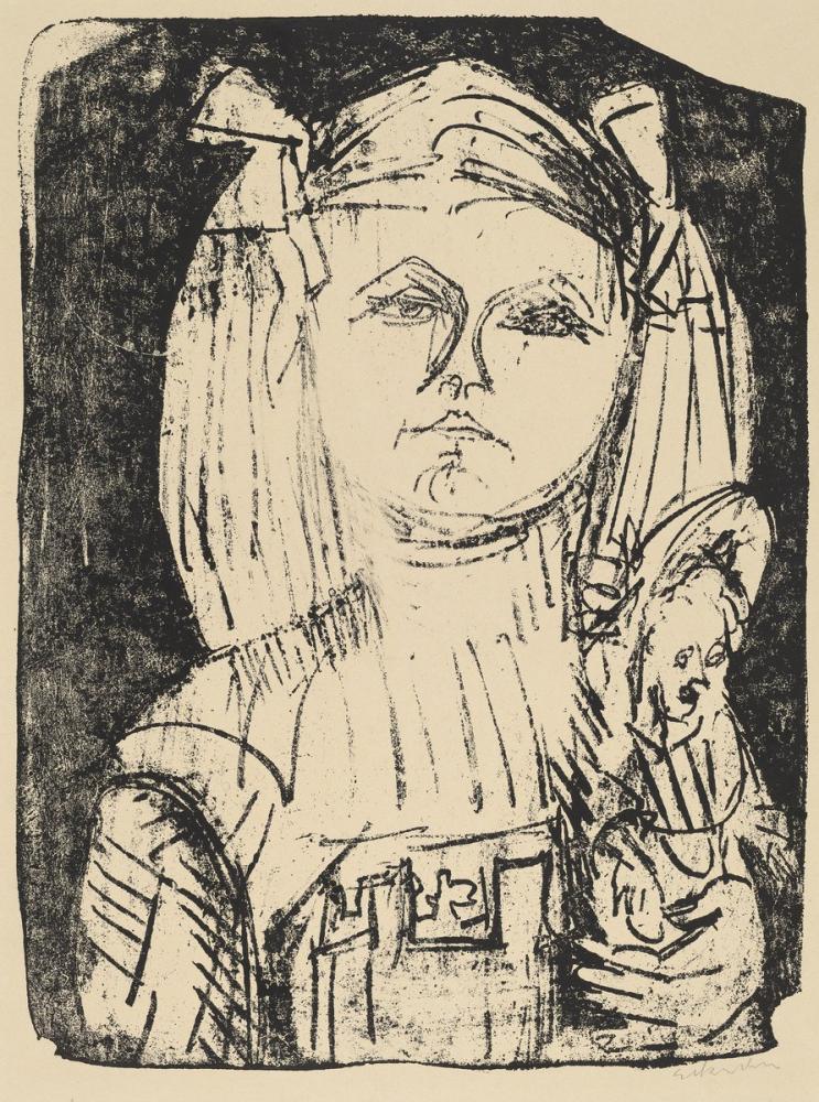 Ernst Ludwig Kirchner, Bebek ile Genç Kız, Figür, Ernst Ludwig Kirchner, kanvas tablo, canvas print sales