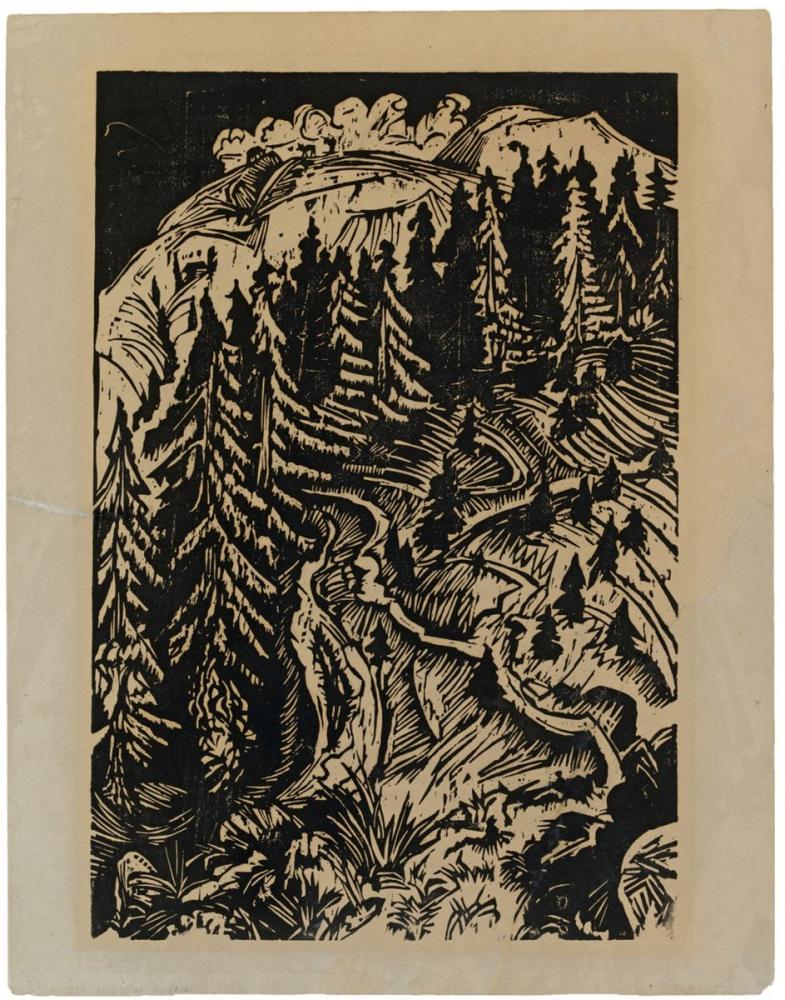 Ernst Ludwig Kirchner, Gravür, Kanvas Tablo, Ernst Ludwig Kirchner, kanvas tablo, canvas print sales