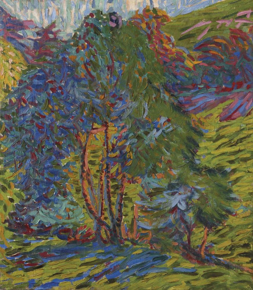Ernst Ludwig Kirchner, Waldstuck Bergwald mit Haus, Figure, Ernst Ludwig Kirchner, kanvas tablo, canvas print sales