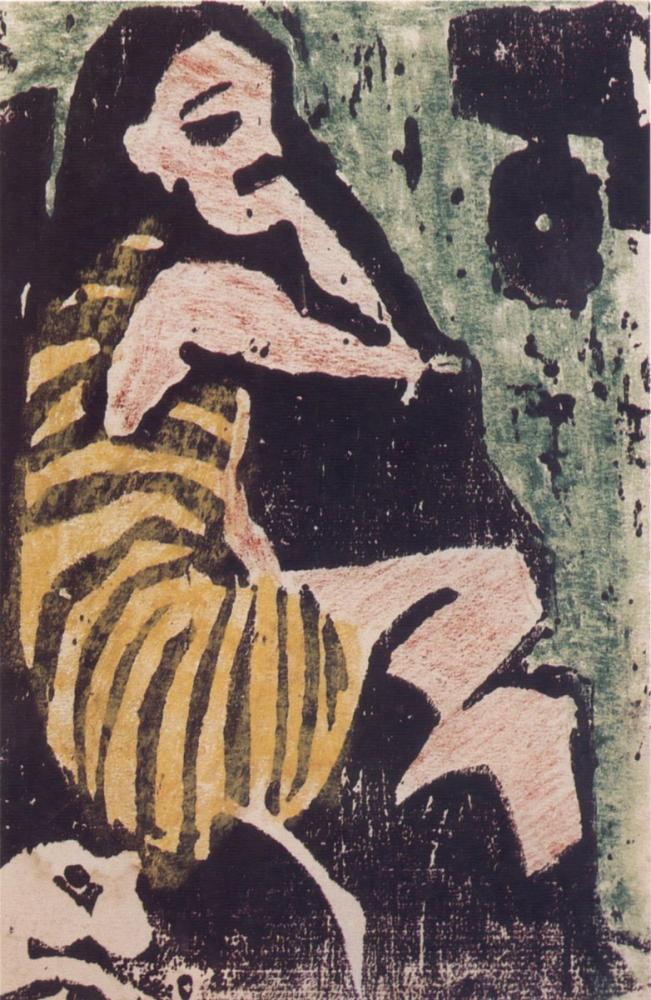 Ernst Ludwig Kirchner, Sanatçı, Figür, Ernst Ludwig Kirchner, kanvas tablo, canvas print sales