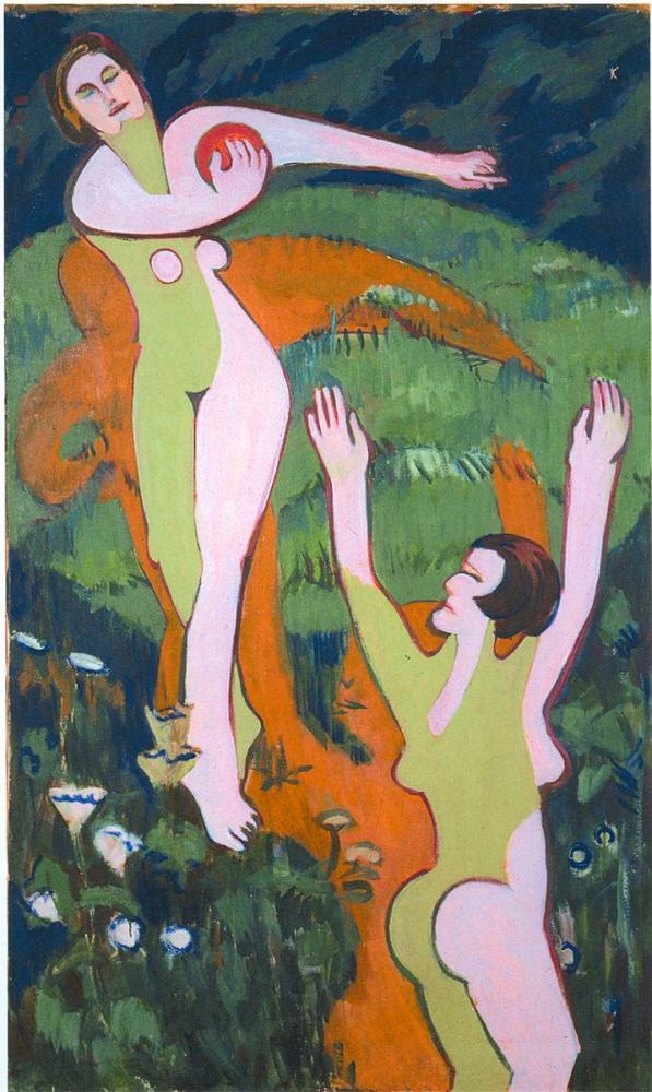 Ernst Ludwig Kirchner, Top Oyuncuları, Figür, Ernst Ludwig Kirchner, kanvas tablo, canvas print sales