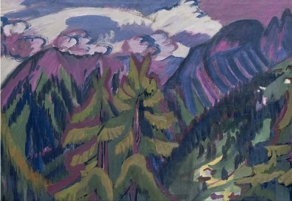 Ernst Ludwig Kirchner, Clavadel Dağ Manzarası, Kanvas Tablo, Ernst Ludwig Kirchner, kanvas tablo, canvas print sales