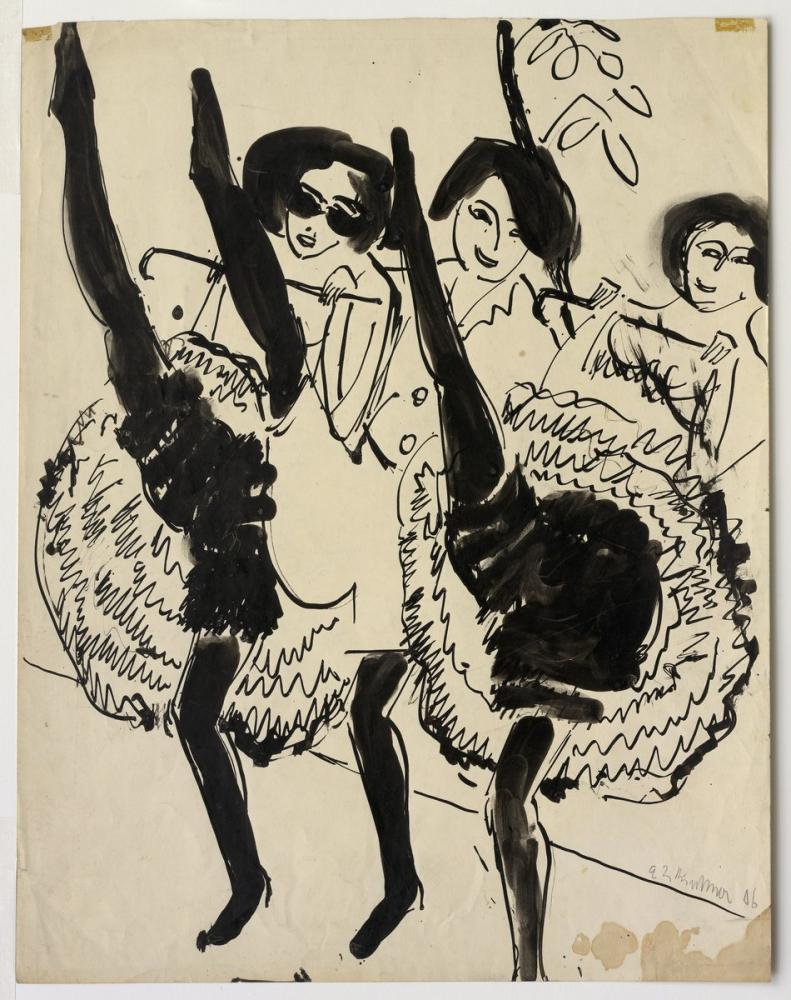 Ernst Ludwig Kirchner, Dansçılar, Figür, Ernst Ludwig Kirchner, kanvas tablo, canvas print sales