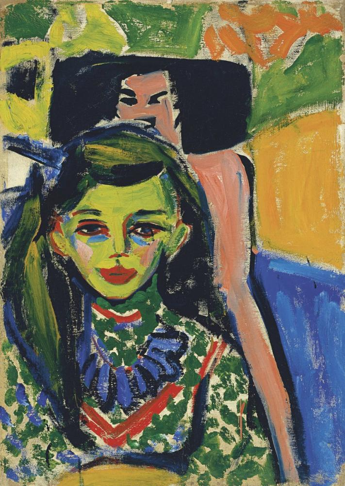 Ernst Ludwig Kirchner, Oyma Sandalyenin Önünde Fränzi, Figür, Ernst Ludwig Kirchner, kanvas tablo, canvas print sales