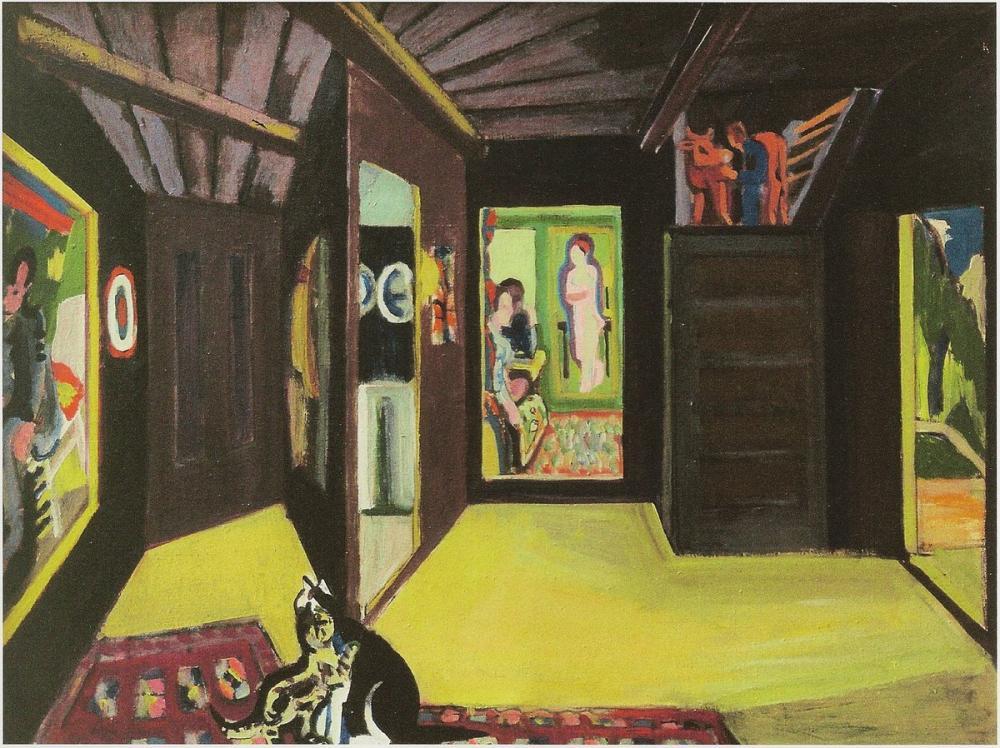 Ernst Ludwig Kirchner, Bergatelier, Figür, Ernst Ludwig Kirchner, kanvas tablo, canvas print sales