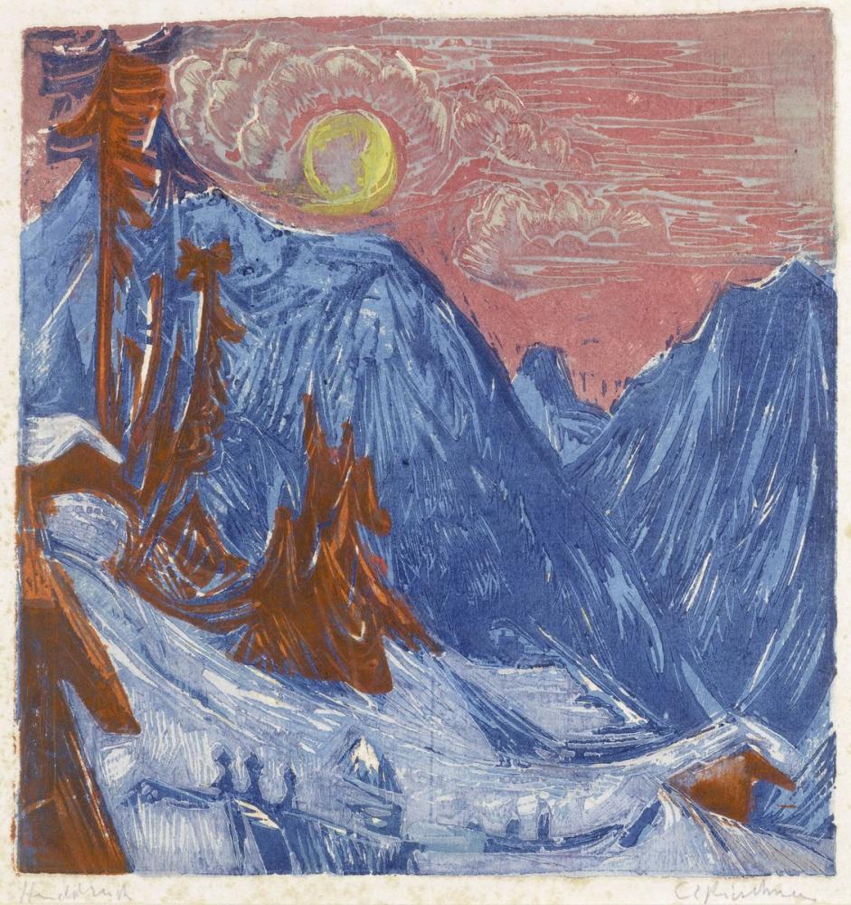 Ernst Ludwig Kirchner, Kış Ayı Gecesi, Kanvas Tablo, Ernst Ludwig Kirchner, kanvas tablo, canvas print sales