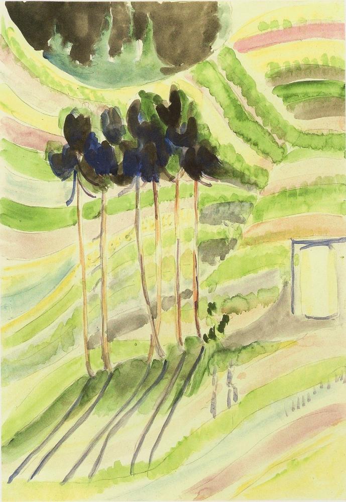 Ernst Ludwig Kirchner, Ağaç Grubu, Kanvas Tablo, Ernst Ludwig Kirchner, kanvas tablo, canvas print sales