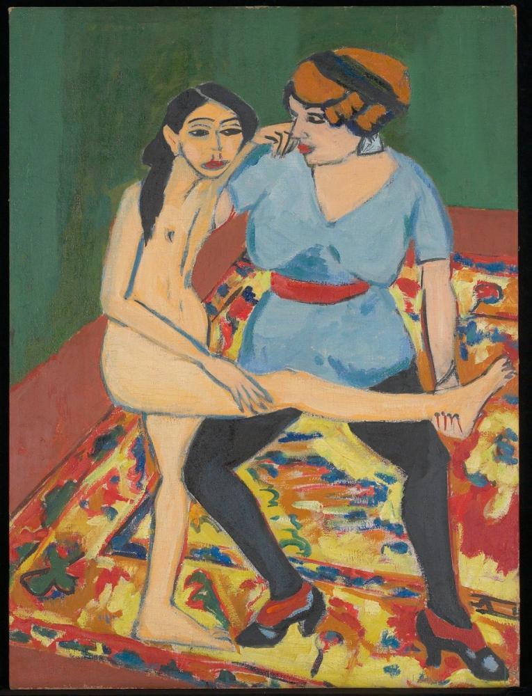 Ernst Ludwig Kirchner, Dans Eğitimi, Figür, Ernst Ludwig Kirchner, kanvas tablo, canvas print sales