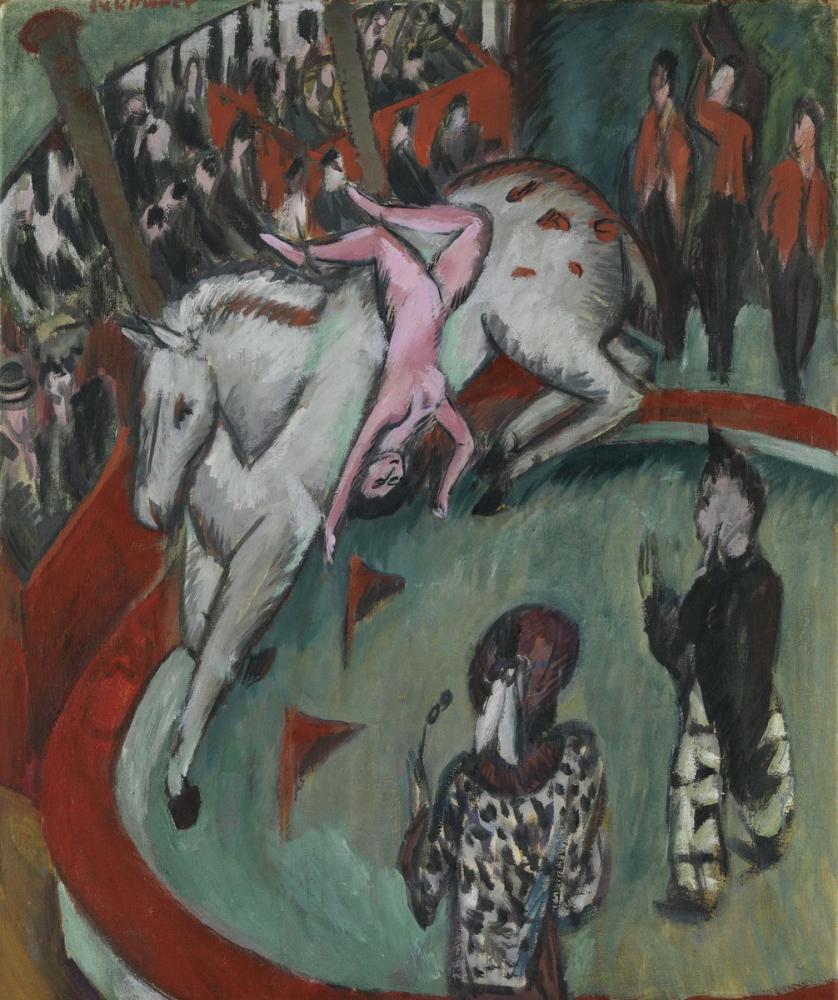 Ernst Ludwig Kirchner, Sirk Sürücüsü, Figür, Ernst Ludwig Kirchner, kanvas tablo, canvas print sales