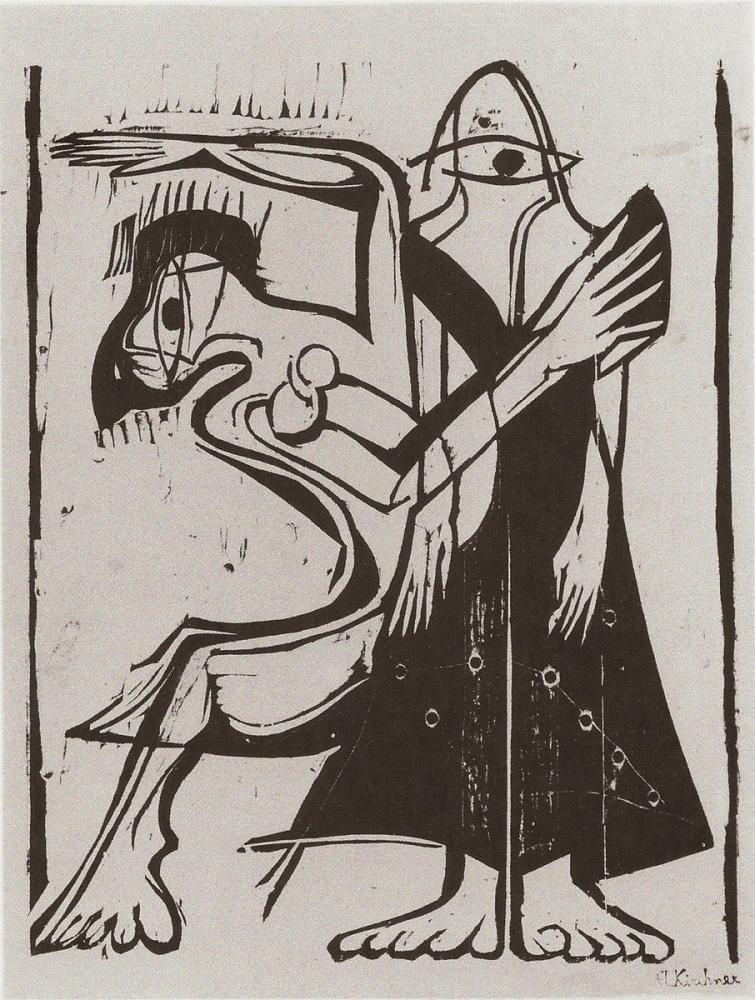 Ernst Ludwig Kirchner, Maske Dansı II, Figür, Ernst Ludwig Kirchner, kanvas tablo, canvas print sales