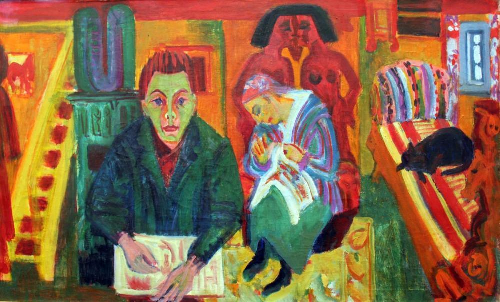 Ernst Ludwig Kirchner, Oturma Odası, Figür, Ernst Ludwig Kirchner, kanvas tablo, canvas print sales