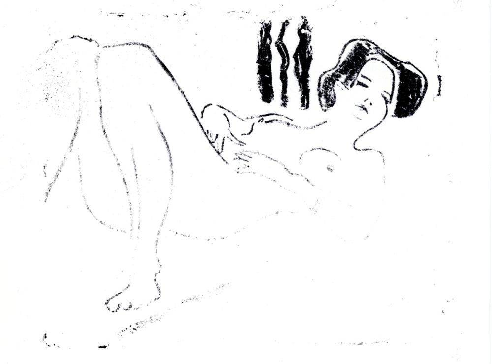 Ernst Ludwig Kirchner, Liegender Weiblicher Akt, Figure, Ernst Ludwig Kirchner, kanvas tablo, canvas print sales