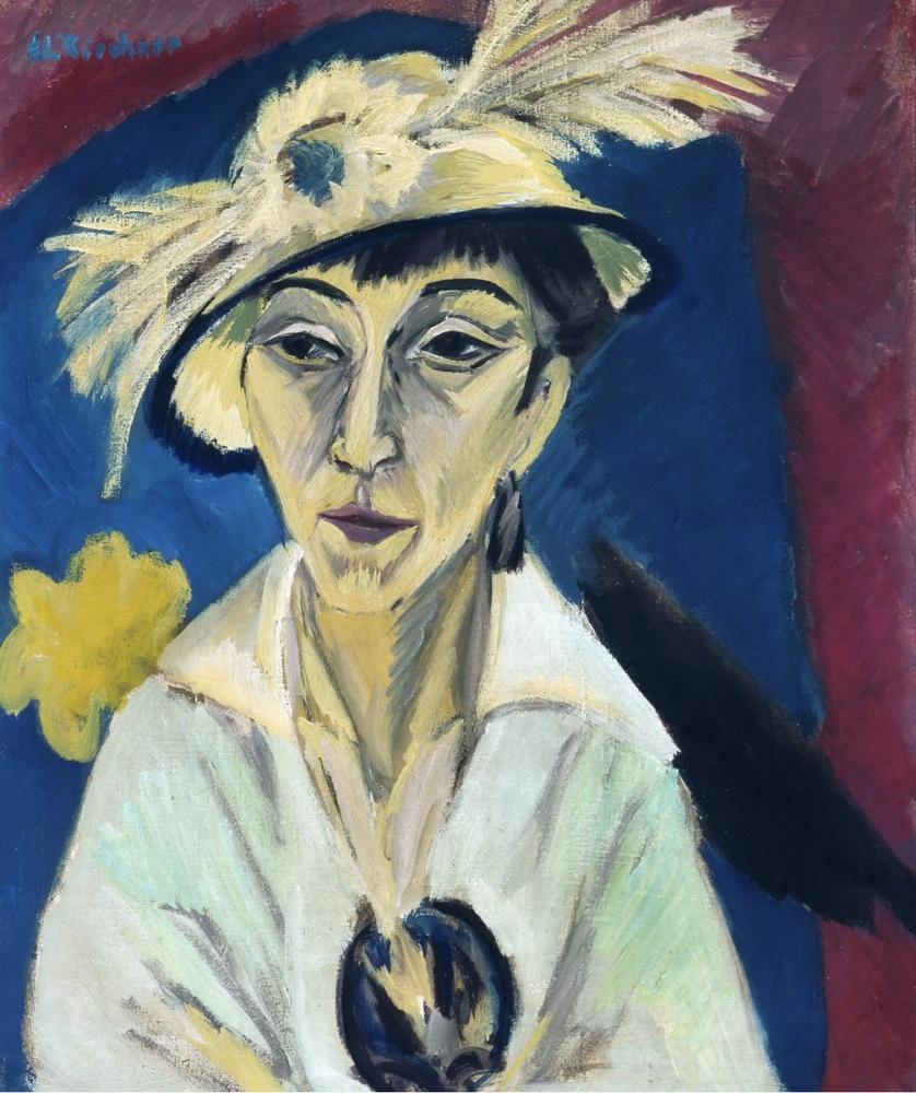 Ernst Ludwig Kirchner, Porträt der Erna Schilling, Figure, Ernst Ludwig Kirchner, kanvas tablo, canvas print sales